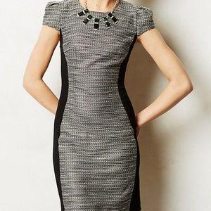 Anthropologie Shimmer Tweed Sheath Dress